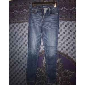 Levi's High Waist dark blue skinny jeans